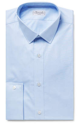 Charvet Light-Blue Puppytooth Cotton Shirt