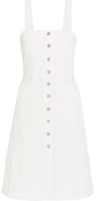 Stella McCartney - Linda Embroidered Stretch-denim Dress - White $915 thestylecure.com