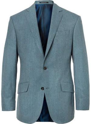 Richard James Aqua-Blue Slim-Fit Wool-Flannel Suit Jacket