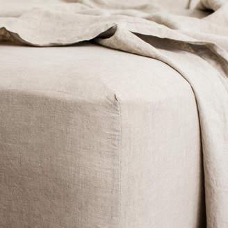 Lulu & Georgia Cultiver Linen Bedding, Natural Fitted Sheet