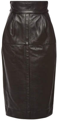 Marc Jacobs High Waist Leather Skirt