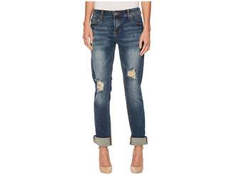 KUT from the Kloth Catherine Boyfriend Wide Cuff Jeans
