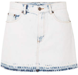 Marc Jacobs Frayed Denim Mini Skirt - Blue