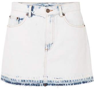 Marc Jacobs Frayed Denim Mini Skirt - Blue
