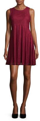 My Michelle Sleeveless Skater Dress-Juniors
