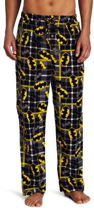 Briefly Stated Men's Batman Patchwork Plaid Pant