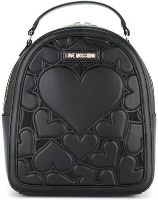 Borsa Soft Nappa Pu Nero, Womens Backpack Handbag, Black, 11x30x28 cm (B x H T) Love Moschino