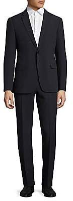 Armani Collezioni Men's Regular-Fit Solid Seersucker Suit