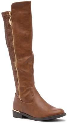 Top Moda Ginger Textured Shaft Riding Boot