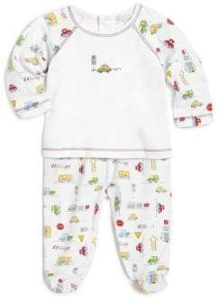 Kissy Kissy Baby's Two-Piece Automobile-Print Top& Footed Pants Set