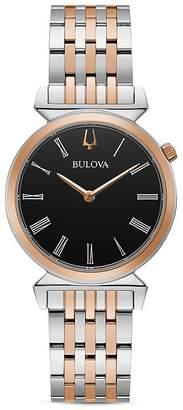 Bulova Regatta Slim Two Tone Link Bracelet Watch, 30mm