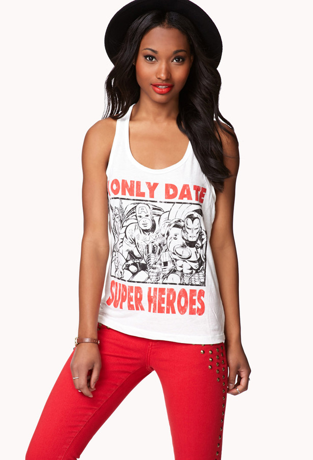FOREVER 21 I Only Date Super Heroes Tank