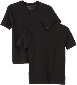 Tom Tailor Double V-Neck T-Shirt in XXXL
