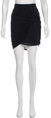 Helmut Lang Asymmetrical Mini Skirt