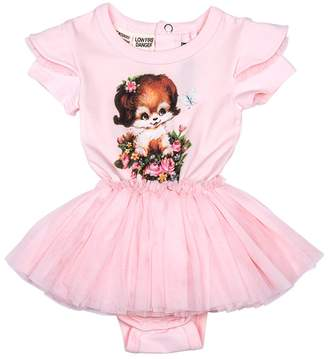 Rock Your Baby Baby Girl's Puppy Love Circus Dress