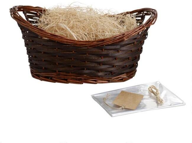 Brown Gift Basket Kit