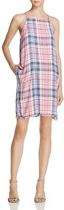 Bella Dahl Lace-Up Back Plaid Dress $132 thestylecure.com