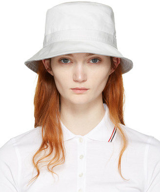 Thom Browne White Bucket Hat $250 thestylecure.com