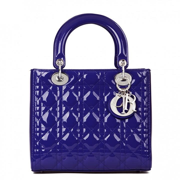 Lady Dior patent leather handbag