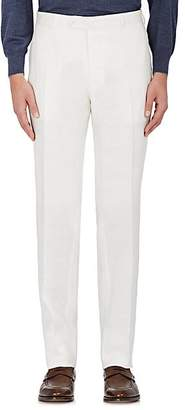 Isaia Men's Cortina Linen Trousers - White