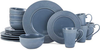Mikasa Italian Countryside Blue 16-Piece Dinnerware Set, Service for 4