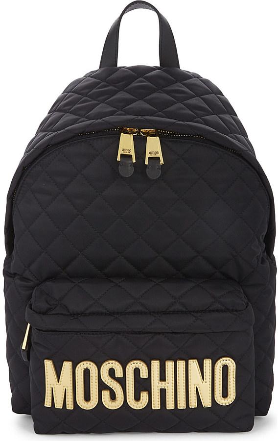 MoschinoMOSCHINO Logo quilted nylon backpack