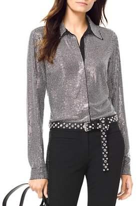 MICHAEL Michael Kors Embellished Button-Down Shirt