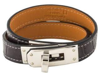 Hermes Alligator Kelly Double Tour Bracelet