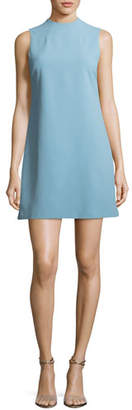Alice + Olivia Coley Mock-Neck Sleeveless A-Line Mini Dress