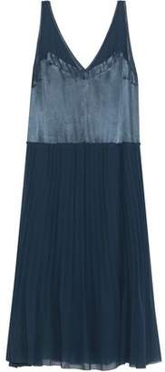 By Malene Birger Carrol Pleated Chiffon And Satin Midi Dress