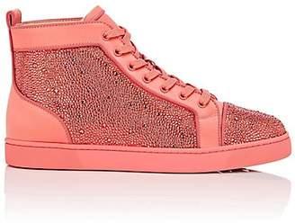 Christian Louboutin Men's Louis Orlato Flat Satin Sneakers - Pink