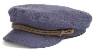 Women's Brixton 'Fiddler' Newsboy Cap - Blue $42 thestylecure.com