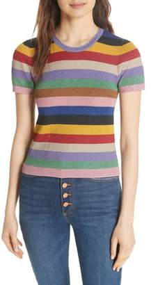 Alice + Olivia Baylor Stripe Top