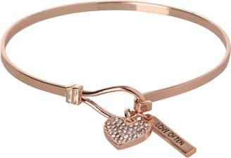 BCBGeneration BCBG Generation Rose Gold Crystal Heart Charm Bracelet