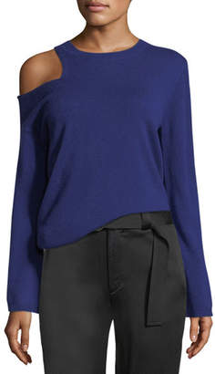 A.L.C. Hamilton Cutout-Shoulder Wool-Cashmere Sweater