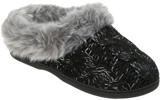 Dearfoams Space-Dyed Cable Knit Slipper Clogs