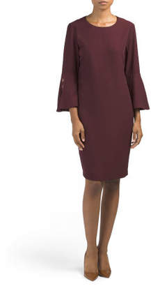 Bell Sleeve Dress With Grommets