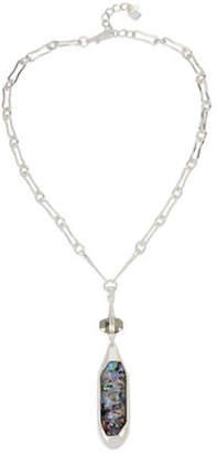 Robert Lee Morris SOHO Geometric Abalone Faceted Pendant Necklace