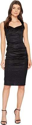 Nicole Miller Women's Crinkle Sweetheart Dress Black