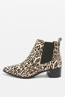 Topshop AMY-ROSE Leopard Print Ankle Boots