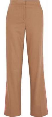 Rag & Bone Satin-Trimmed Wool-Blend Wide-Leg Pants