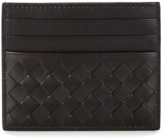 Bottega Veneta Intrecciato Leather Cardholder - Mens - Black
