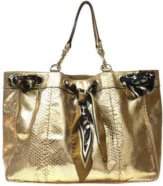 Gucci Positano Gold Exotic leathers Handbags