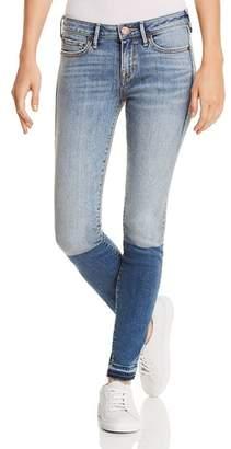 True Religion Halle Mid Rise Skinny Jeans in Sapphire Slip