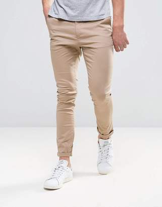 Asos Design DESIGN super skinny chinos in stone