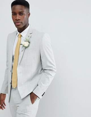 Farah Smart Skinny Wedding Suit Jacket In Cross Hatch