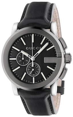 Gucci Men's G-Chrono Leather Watch
