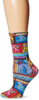 Laurèl Burch Women's Single Pack Novelty Animal Crew Socks