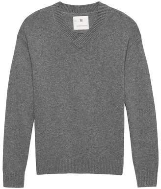 Banana Republic Heritage Alpaca-Blend Oversized V-Neck Sweater