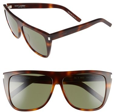 Saint Laurent Women's Saint Laurent 59Mm Sunglasses - Light Havana